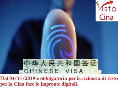 Visti per la Cina rilascio impronte digitali per la cina
