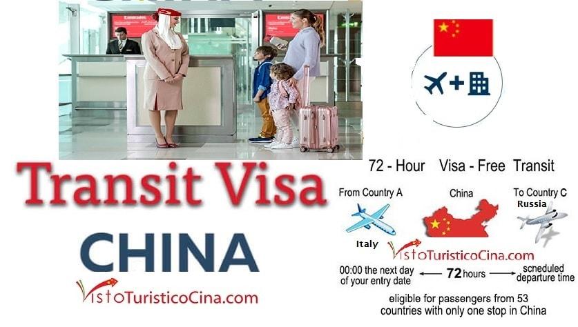 Visto di transito per la Cina