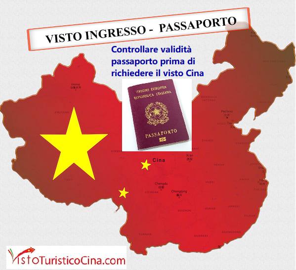 Validità passaporto per viaggio in Cina