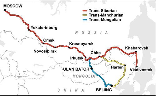 mappa della transiberiana